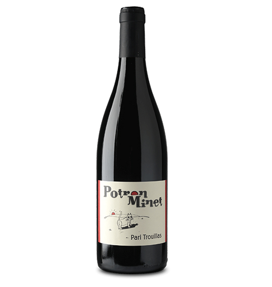Domaine Potron Minet Jean-Sébastien Gioan Pari Trouillas Rouge 2017 70 % de Carignan, 30 % de Grenache noir 75cl