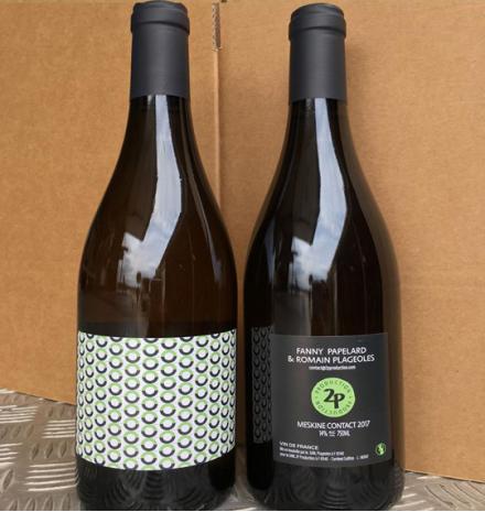 Meskine Contact 2017 50% Sauvignon blanc, 50% Loin de L'Oeil  2p Production Fanny Papelard & Romain Plageoles 75 cl