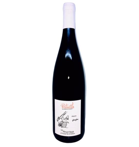 Les Vins Pirouettes Glouglou par Hubert et Christian 100% Pinot Noir 1L